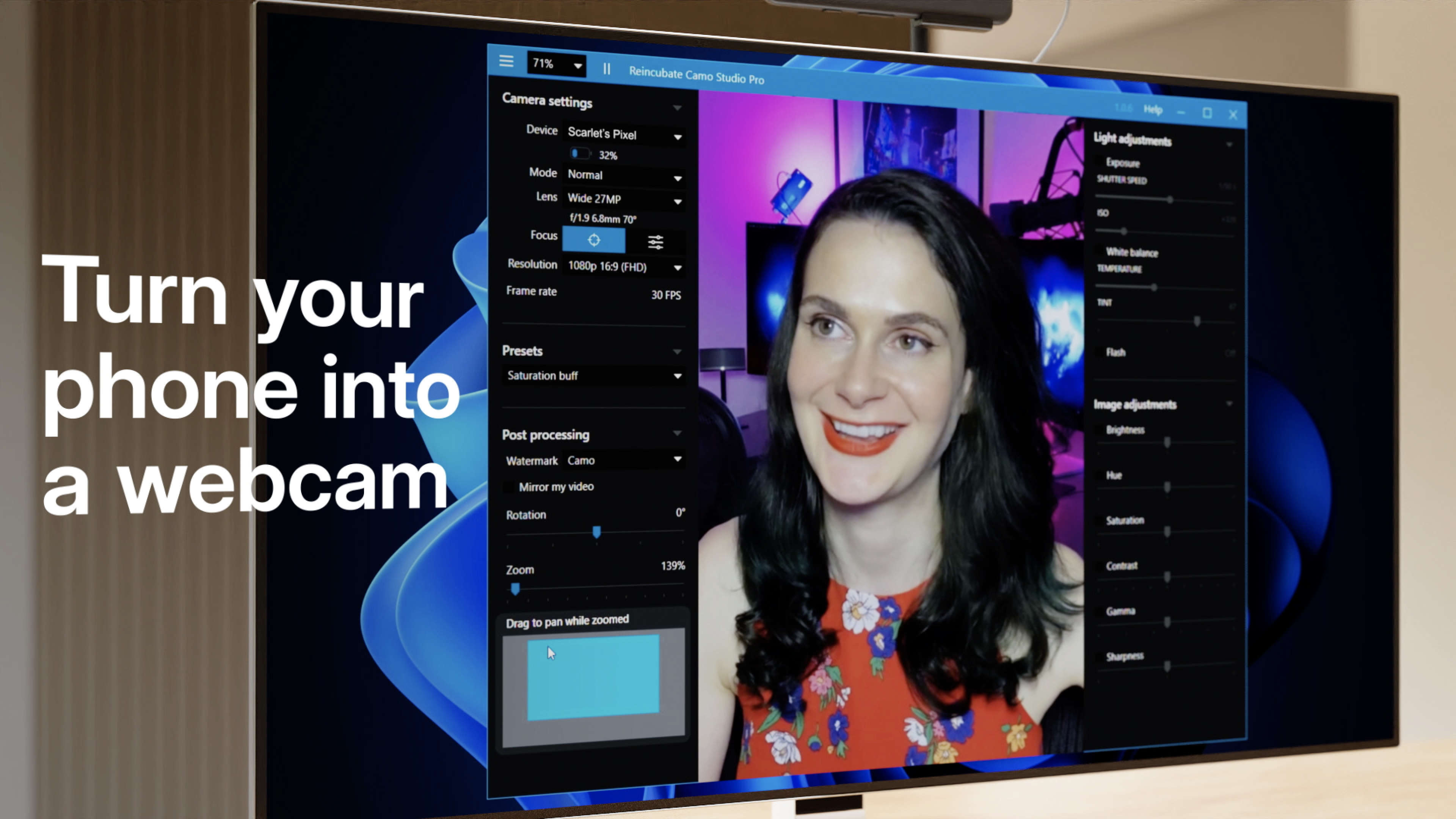 Reincubate's Camo, the Popular App that turns iPhones into World Class Webcams for MACs & PCs, is now available for Android User