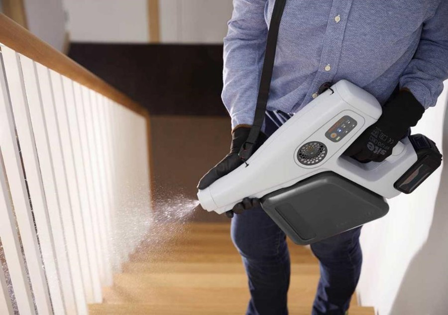 Revolutionary new sprayer instantly turns salty water into powerful disinfectant