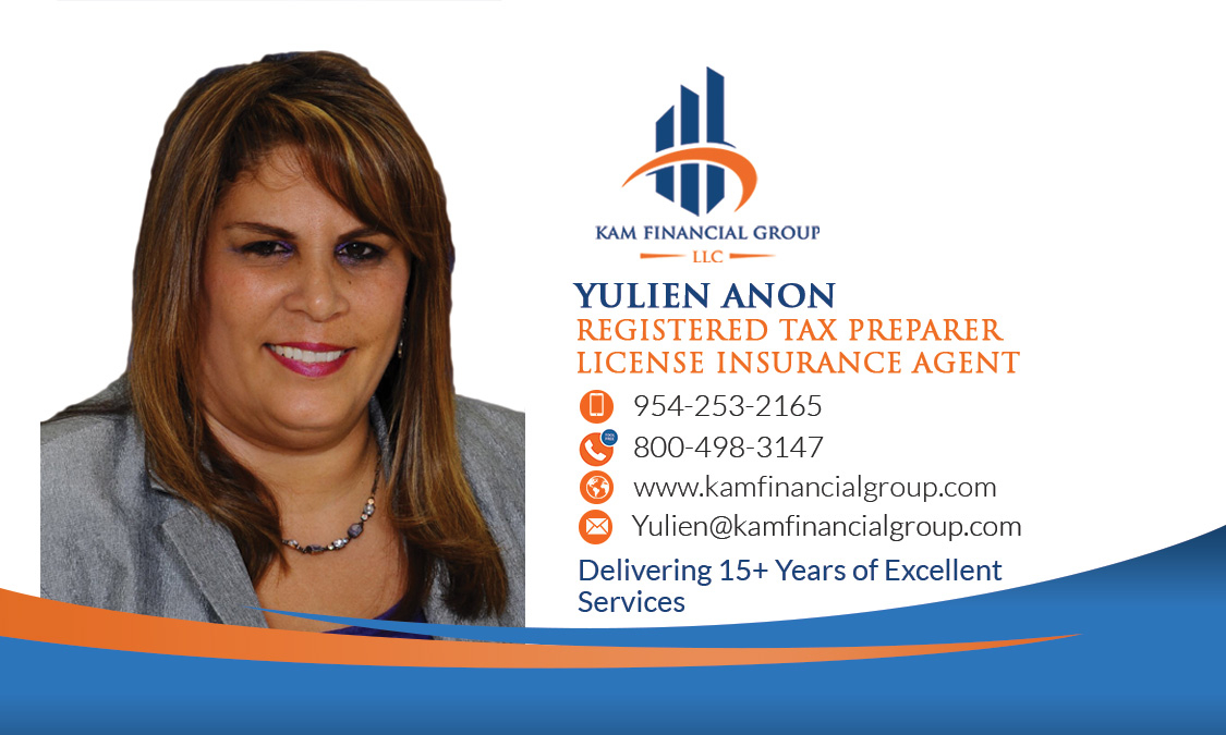 It's Time To Get Confident About Tax Affairs With  Second to None Services By Yulien Anon The Talented Face Of Kam Financial Group