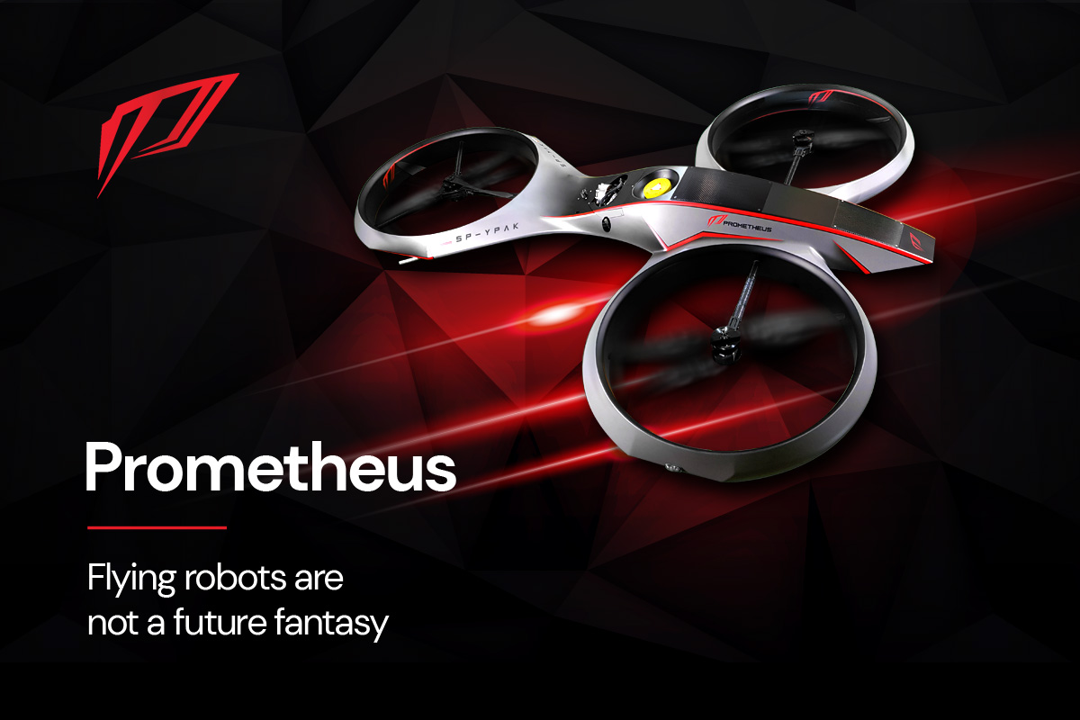 Prometheus SA's UAV GSM 077 is the World's First Hybrid, Interactive Drone with Real-Time Human Interactions Ability