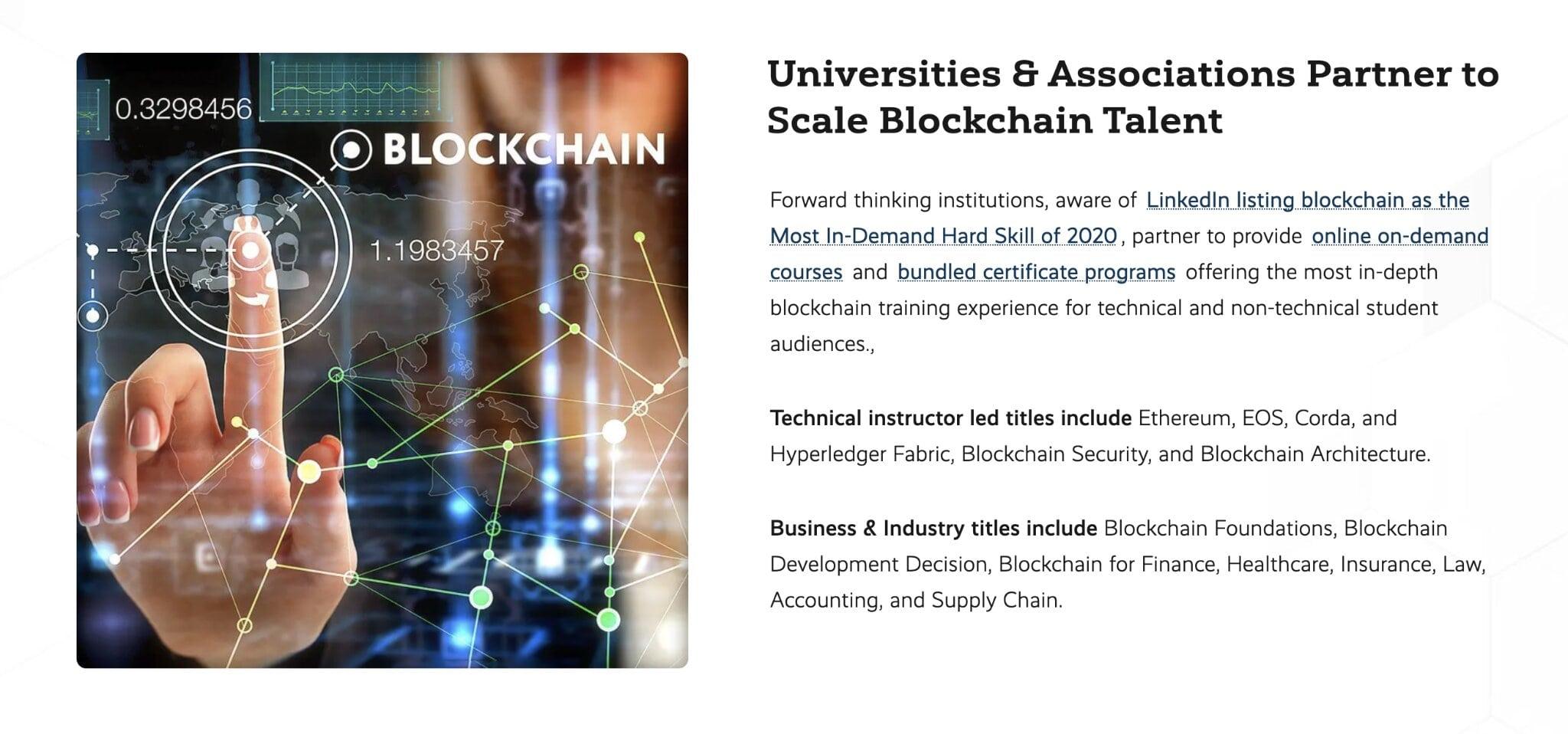World's Top Universities Look to Scale a Certified Blockchain Workforce
