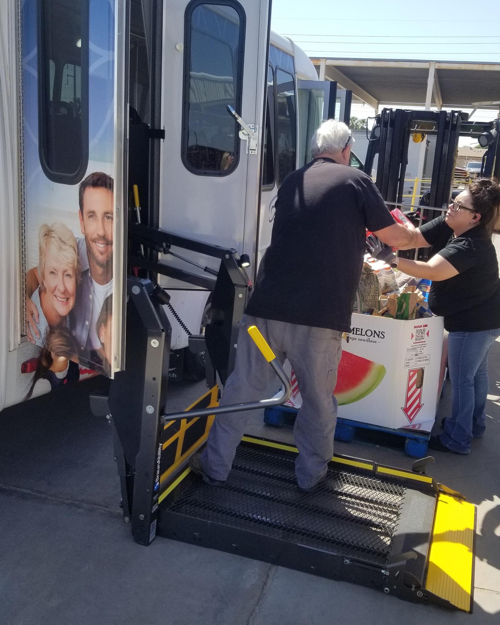 """Ativo of Yuma """"Stuffs Their Shuttle"""" for Yuma Community Food Bank"""