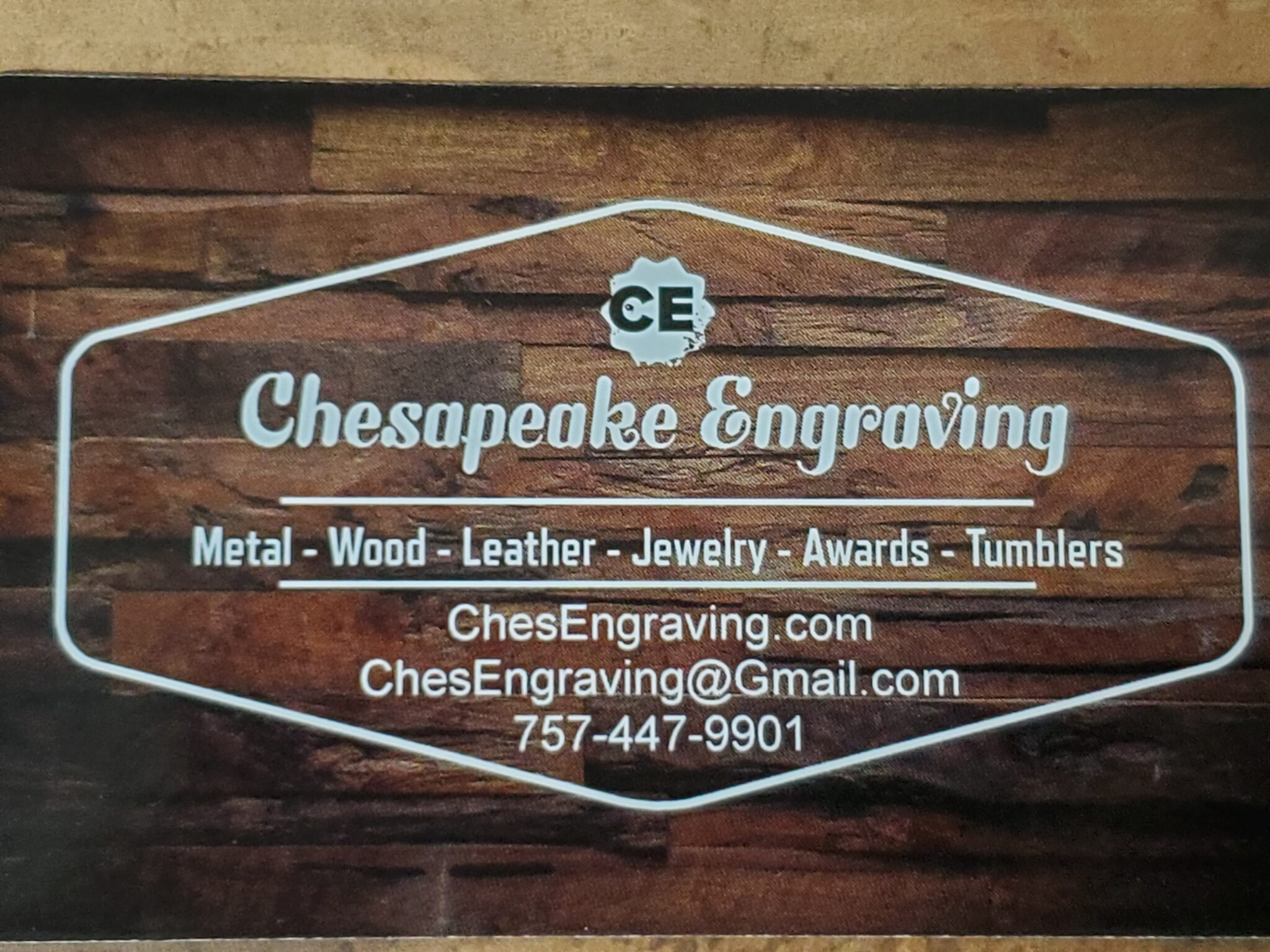 Chesapeake Engraving Provides Laser Engraving And Etching Services In Southeastern Virginia.